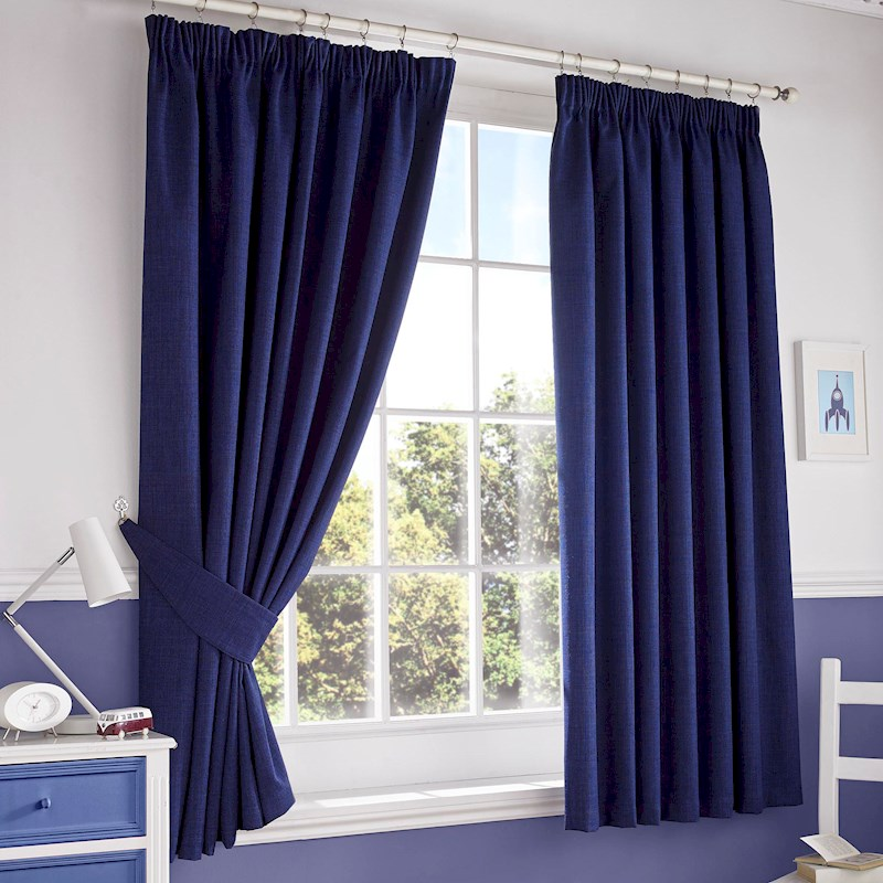 Darwin Blackout Curtains Navy Sterling Furniture