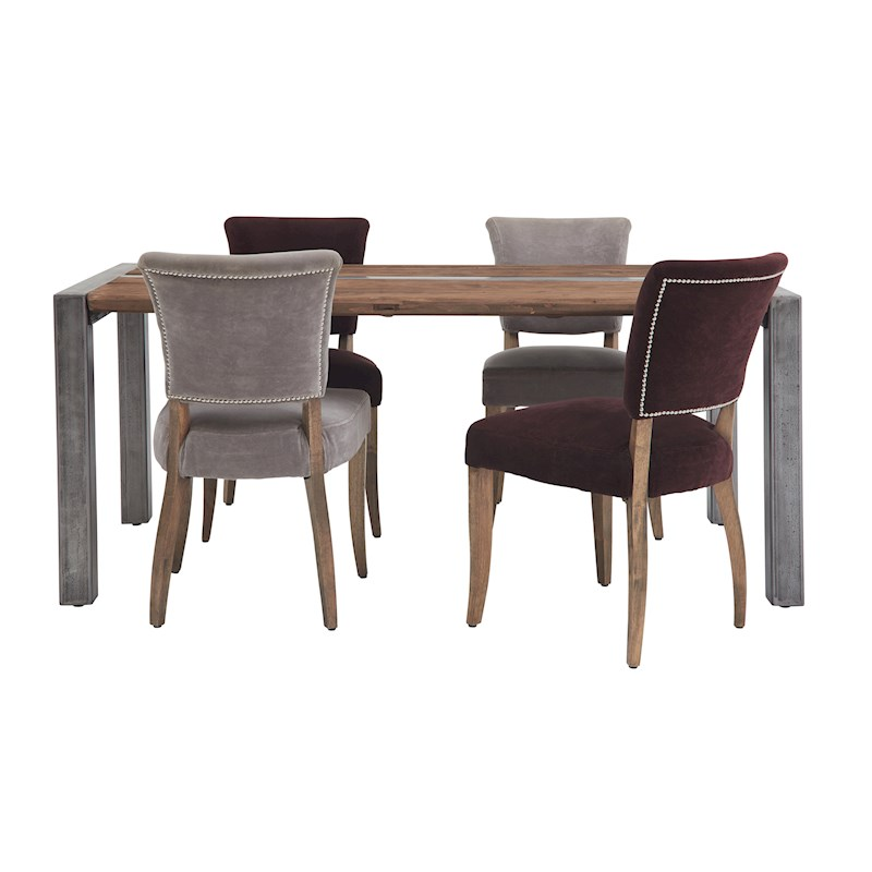 Halo Foundry Dining Table   4 Mimi Moleskin Chairs. Dining Room Furniture and Dining Sets   Sterling Furniture