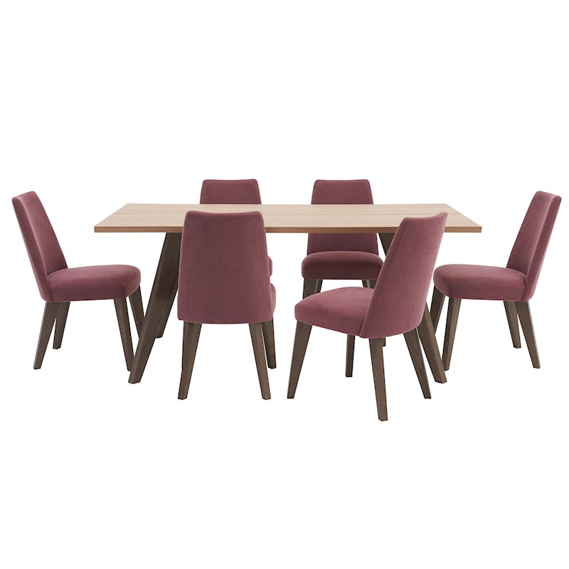 Larsen Dining Table Amp 6 Upholstered Chairs Sterling