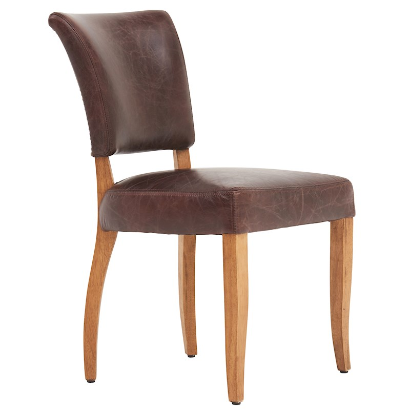 Halo versailles saloon mimi dining chair leather for Colorful leather dining chairs
