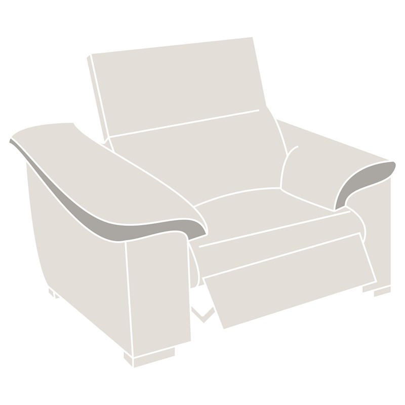 Natuzzi Editions Parma Power Recliner Armchair Sterling