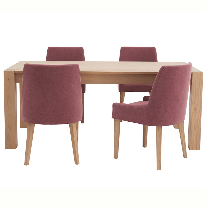 Svende 180cm Dining Table & 4 Scoop Dining Chairs